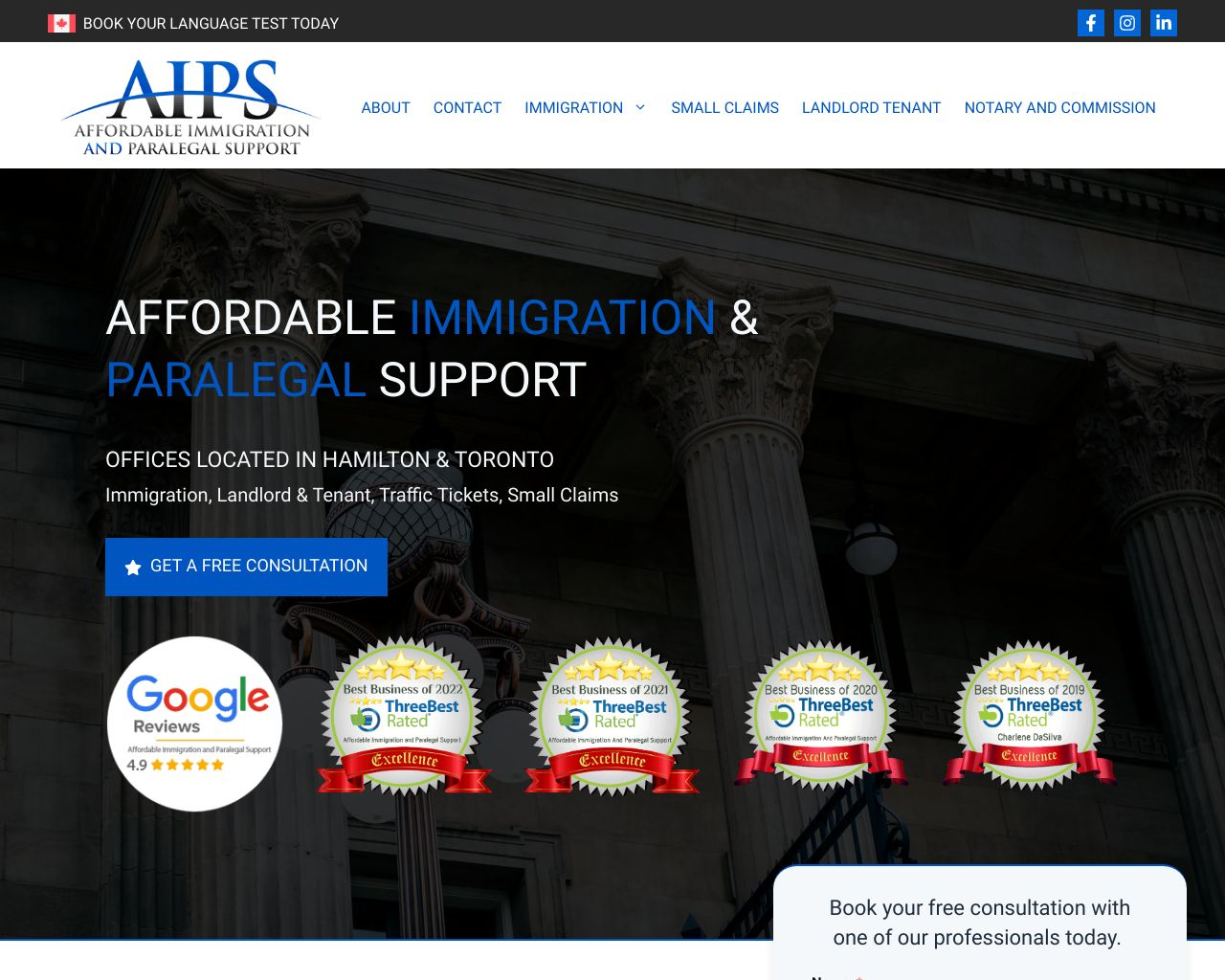 Website: Affordable Immigration and Paralegal Support