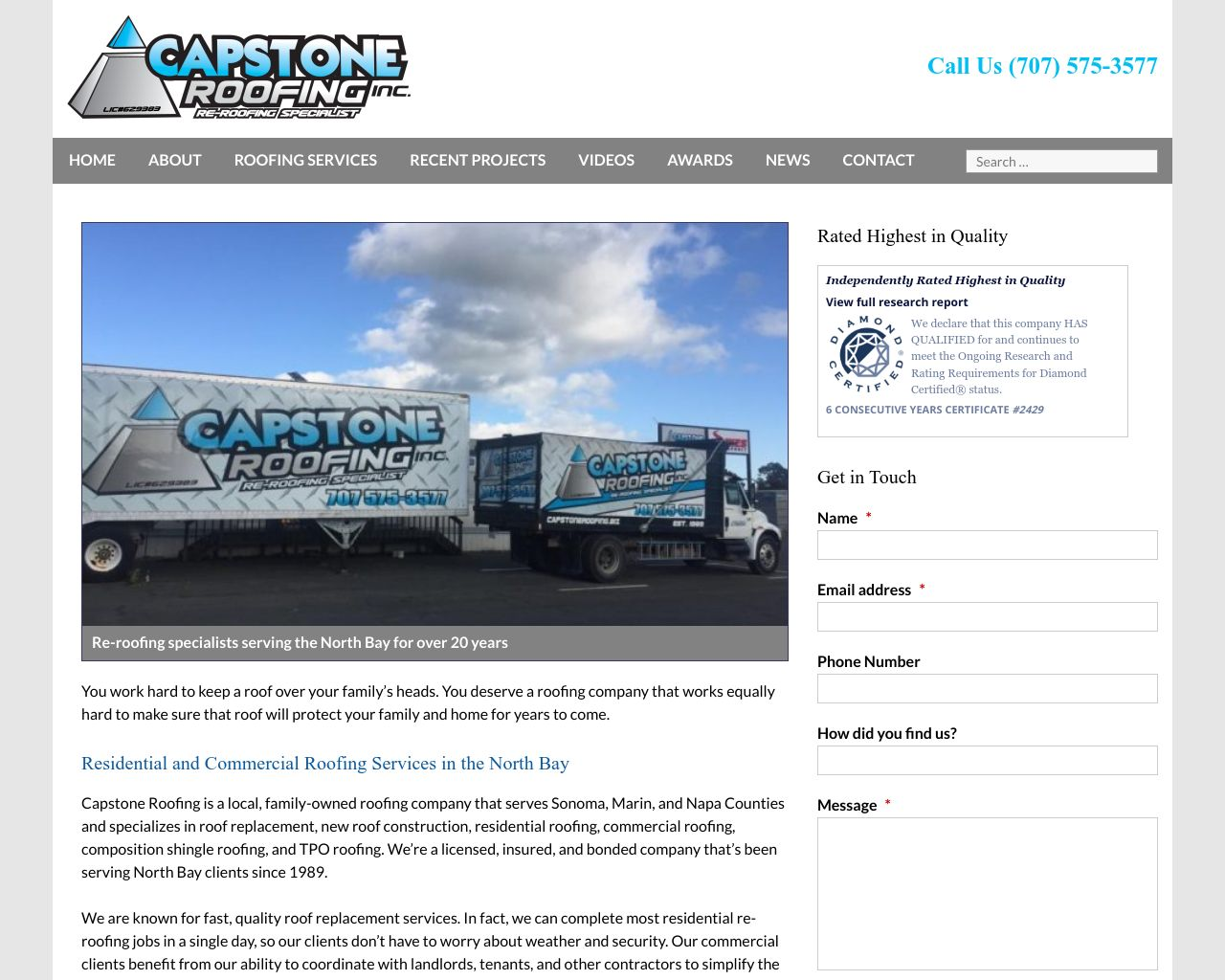 Capstone Roofing Inc North Bay Roofing Contractor