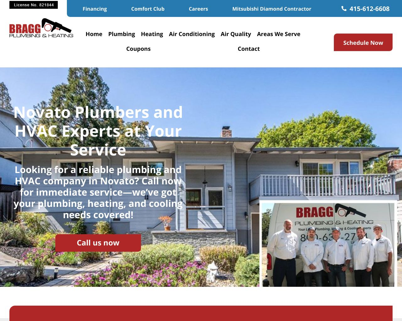Bragg Plumbing & Heating | Diamond Certified