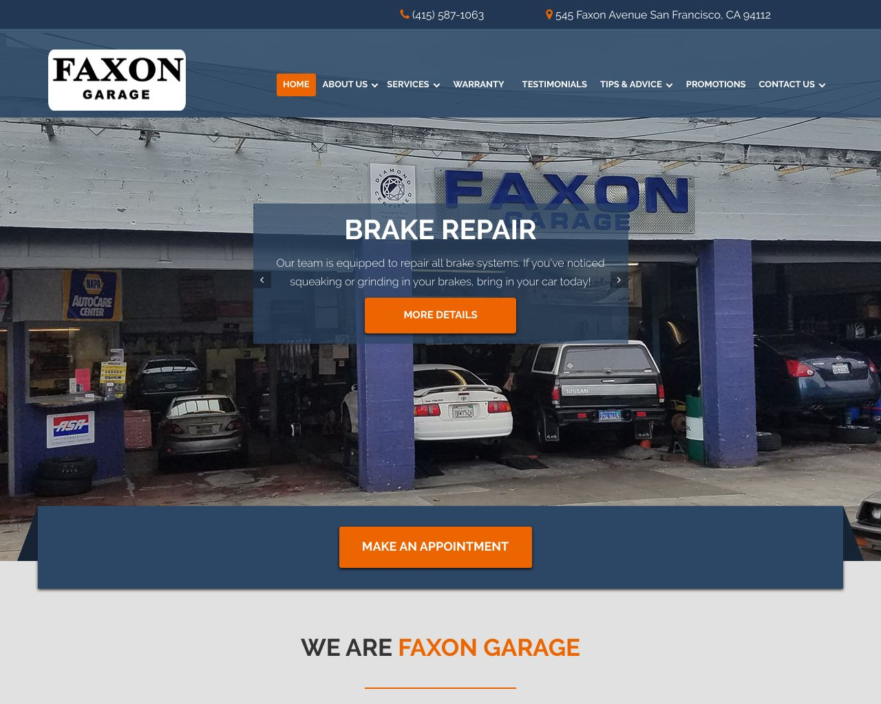 Faxon garage diamond certified for Photo garage 94