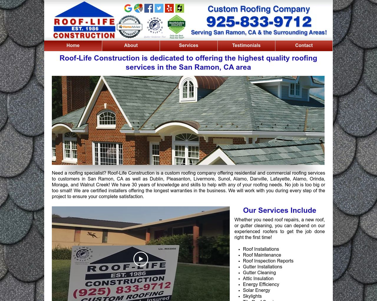 Roof Life Construction Diamond Certified