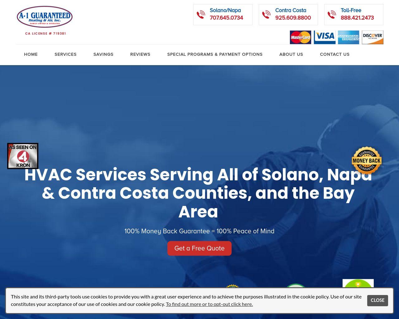 A-1 Guaranteed Heating & Air | Solano County HVAC | Diamond