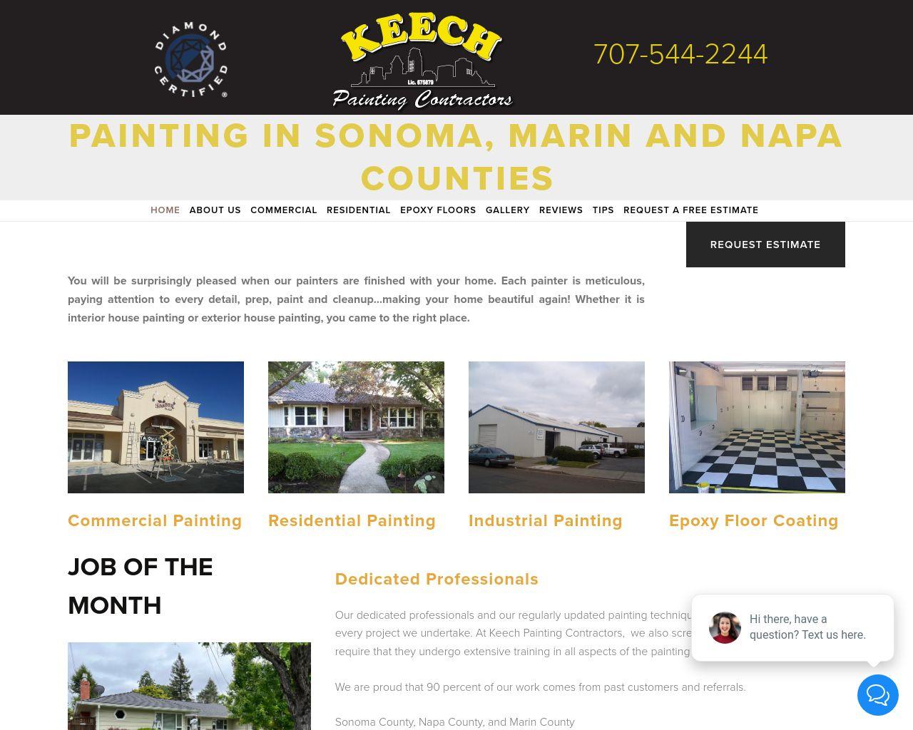Keech Painting Contractors, Inc    Diamond Certified