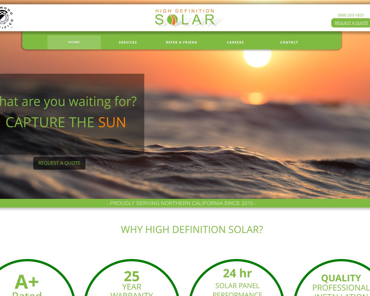 High Definition Solar | Solar Power Systems | Diamond Certified