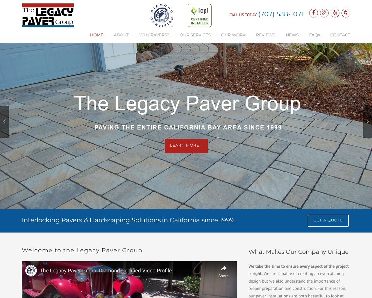 The Legacy Paver Group | Bay Area Hardscaping | Diamond Certified on