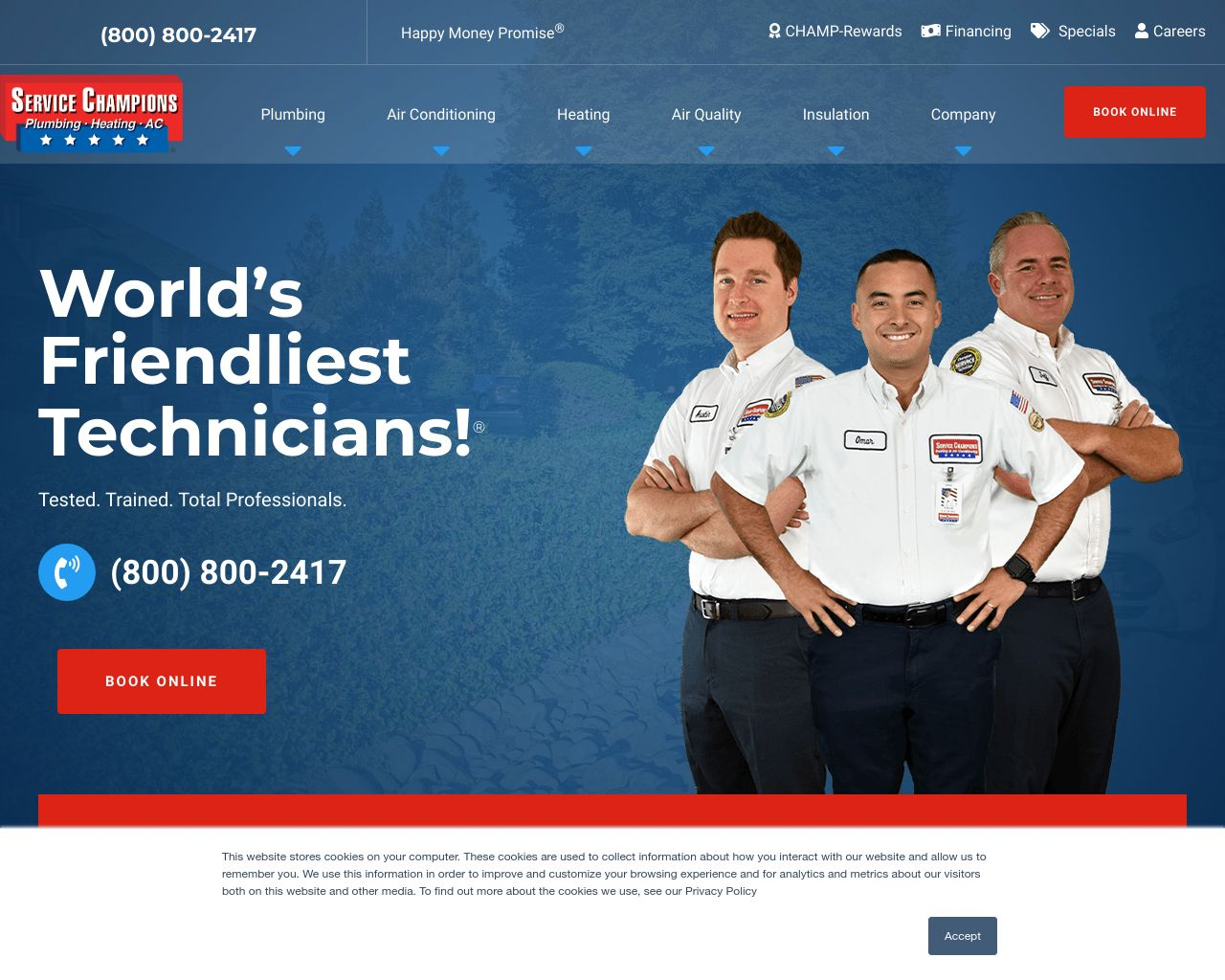 Service Champions Heating & Air Conditioning | Diamond Certified