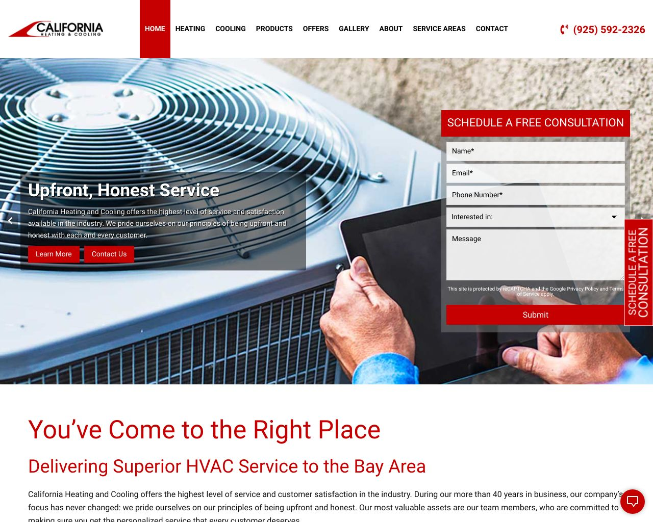 California Heating & Cooling | Air Conditioning | Diamond