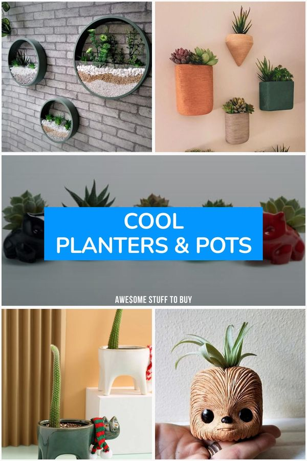 Cool Planters & Pots // Awesome Stuff to Buy